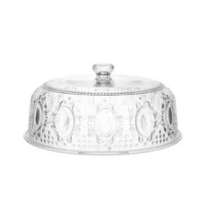 Piatto torta Baci Milano Baroque & Rock diametro 32 h 15 cm