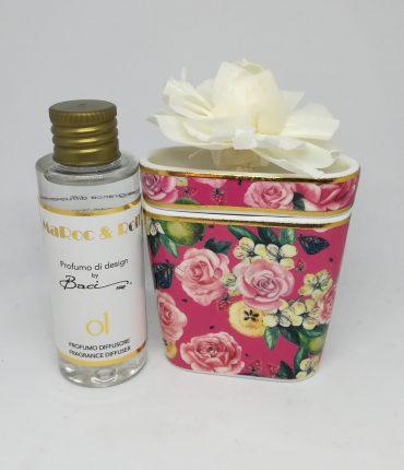 Profumatore mini bouquet rosa Baci Milano
