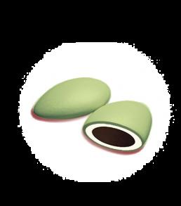 Confezione da 1 kg confetto double doppio cioccolato colore verde