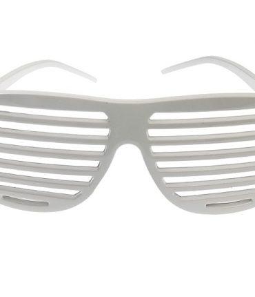 Occhiali in plastica veneziani colore bianco