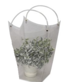 Wedding Bag grande trasparente in plastica rigida