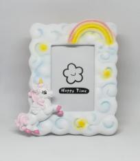 Porta foto unicorno rosa bimba