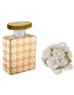 Bottiglia profumatore 100 ml completo di rosa diffusore e fragranza