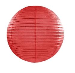 Lanterna rossa in carta e metallo