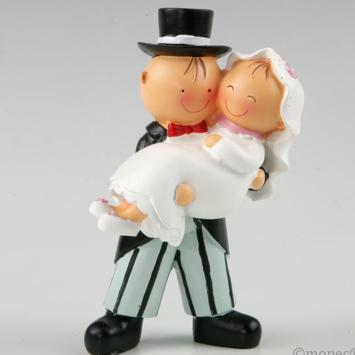 Cake Topper Pit & Pita sposa in braccio