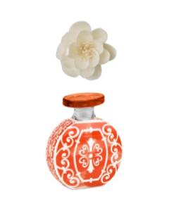 Bottiglia profumatore 100 ml completo di fiore diffusore