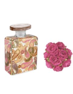 Bottiglia profumatore 100 ml completa di rosa diffusore e fragranza