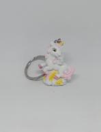 Unicorno rosa portachiave bimba