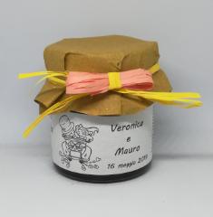 Barattolo con confettura bio ai lamponi