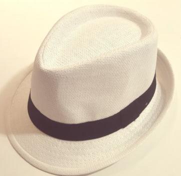 Cappellino panama bianco