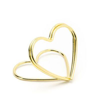 Segnaposto cuore gold