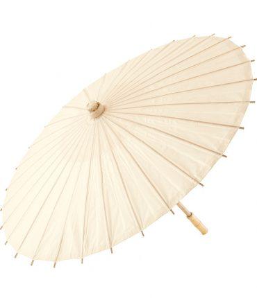 Ombrello Parasole in Carta e Bamboo Colore Avorio