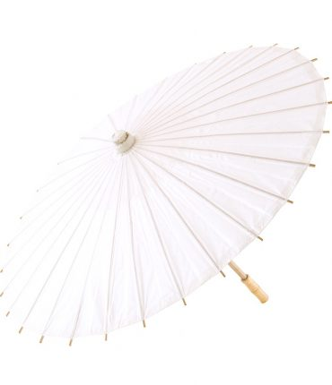 Ombrello Parasole in Carta e Bamboo Colore Bianco