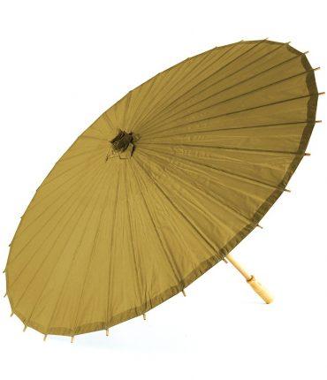Ombrello Parasole in Carta e Bamboo Colore Ora Antico