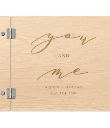 """Guest Book in Legno Naturale personalizzato libro degli ospiti """"You and me"""" Emozionarsi The Wedding Store ospiti interno"""