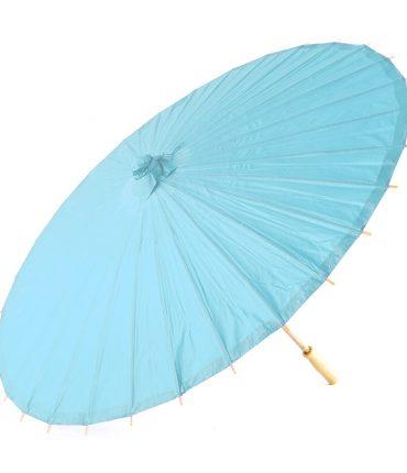 Ombrello Parasole in Carta e Bamboo Colore Azzurro