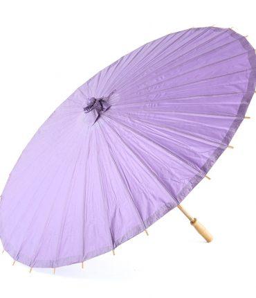 Ombrello Parasole in Carta e Bamboo Colore Lavanda