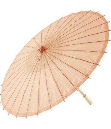 Ombrello Parasole in Carta e Bamboo Colore Pesca
