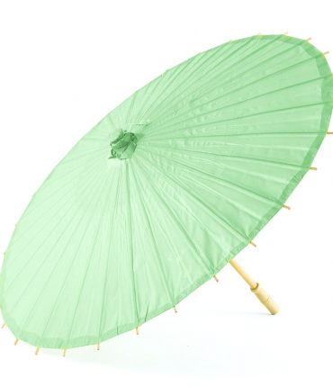 Ombrello Parasole in Carta e Bamboo Colore Verde Acqua