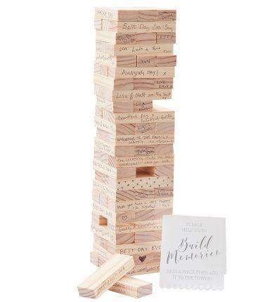 """guest book in legno """"The Tower"""" matrimonio"""