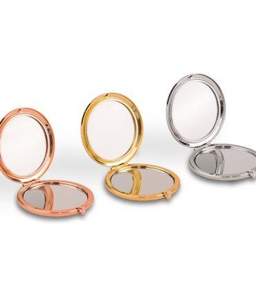 Specchietto da borsa personalizzato glitterato silver, gold, rose gold