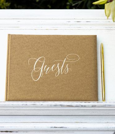 GuestBook kraft scritta oro