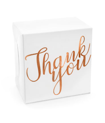 "10 Scatole Torta ""ThankYou"" Rose Gold"