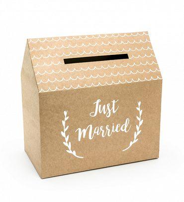 "Scatola casetta per buste regalo ""Just Married"""