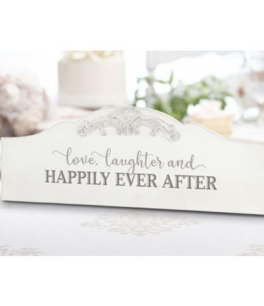 "Scritta Legno Bianco ""Happily Ever After"" Shabby Chic"