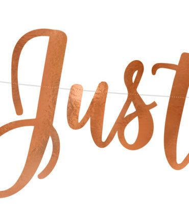 "Banner ""Just Married"" RoseGold in carta specchiata per decorazioni"