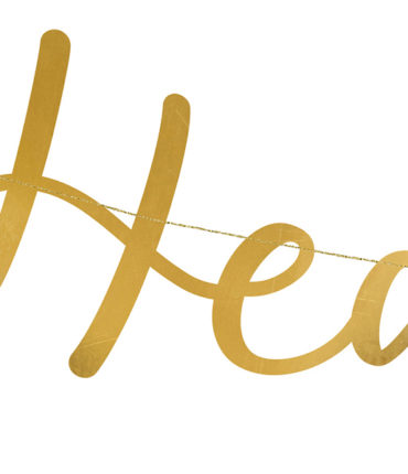 "Banner ""Heaven Sent"" Gold in carta specchiata"