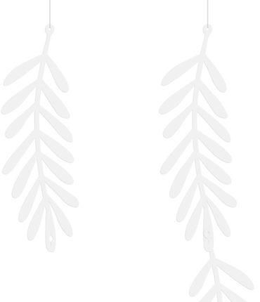 Banner Ulivo 20 Foglie componibile colore bianco per allestimento