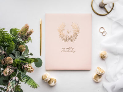 GuestBook rosa e oro