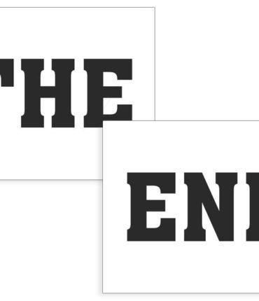 Coppia adesivi The End