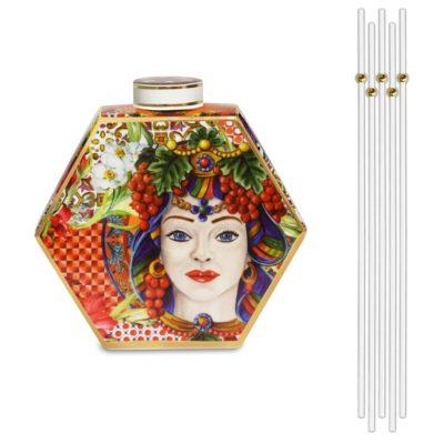 Bottiglia Diffusore Corallo Porcellana Baci Milano Linea B&R Living