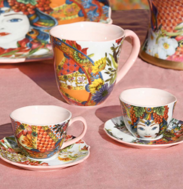 Tazza Mug Porcellana Corallo linea kitchen Baci Milano