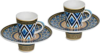 Set due tazzine porcellana linea Fifth Avenue / Living Baci Milano Bomboniera Idea Regalo Testimoni Nozze
