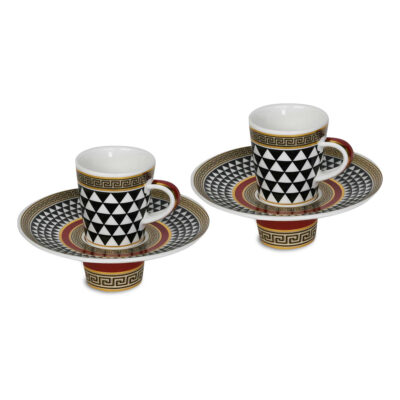 Set due tazzine porcellana linea Fifth Avenue / Living Baci Milano Bomboniera Idea Regalo Testimoni Nozze
